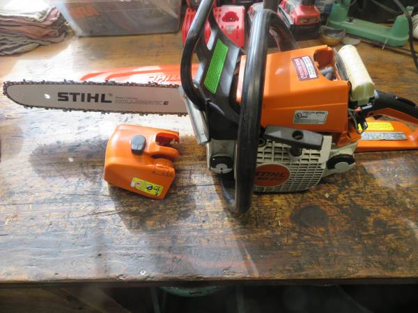 Photo STIHL MS210 CHAINSAW 16quot WITH NEW BAR AND CHAIN - $240 (SPOKANE NORTH SIDE)