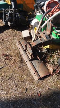Photo Sears Suburban Garden Tractor Push Plow Blade Dozer Implement w Mount - $475
