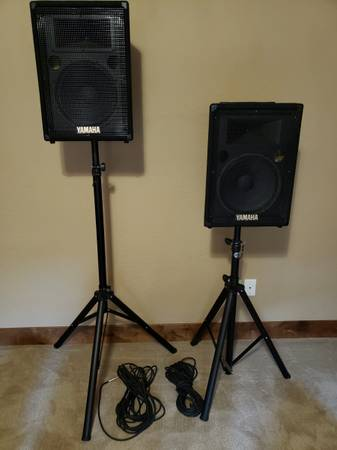 Photo Speakers and Stands - $290 (spokane)