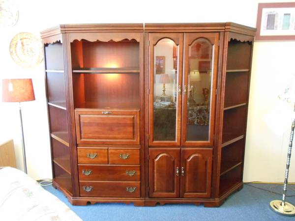 Photo Wall Library wDesk - $499 (O39Brien Used Furniture)