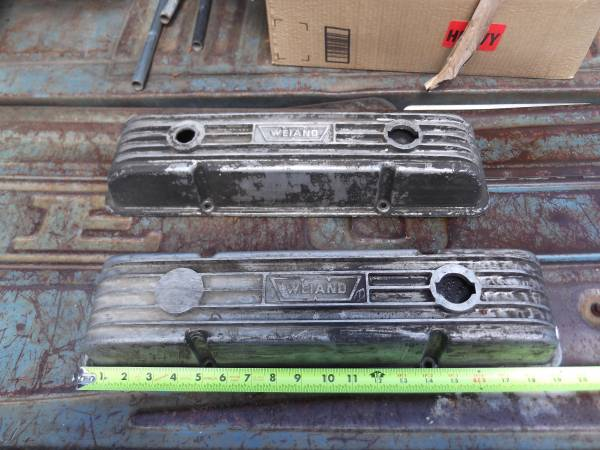 Photo weiand aluminum valve covers - $50 (post falls)