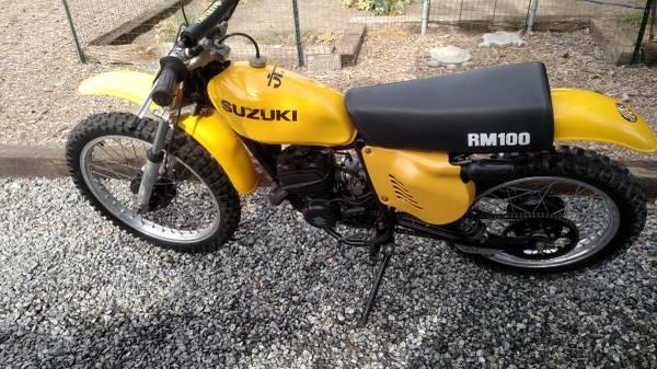 Photo 1977 Suzuki RM 100 - $2,450 (Wheatland)