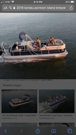 Photo 2018 21 Ft Landau Pontoon Boat Used only hand full of times - $25,500 (Kings River Marina)