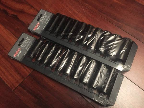 Photo Craftsman 10 piece Deep Impact socket set and holder Was $54 - $40 (SW Springfield)
