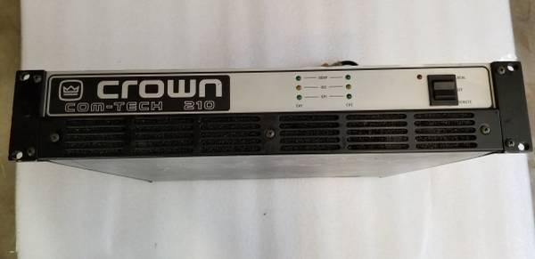 Photo Crown COM-TECH 210 Power Amplifier 300 Watt Dual Channel Professional - $125 (Branson)