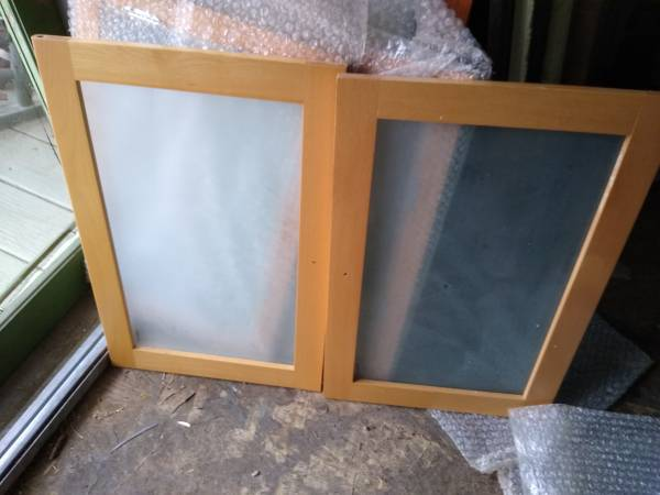 Photo Glass front cabinet doors some new - $10 (Forsyth)