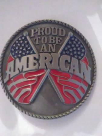 Photo PROUD TO BE AN AMERICAN BELT BUCKLE - $10 (BRANSON)