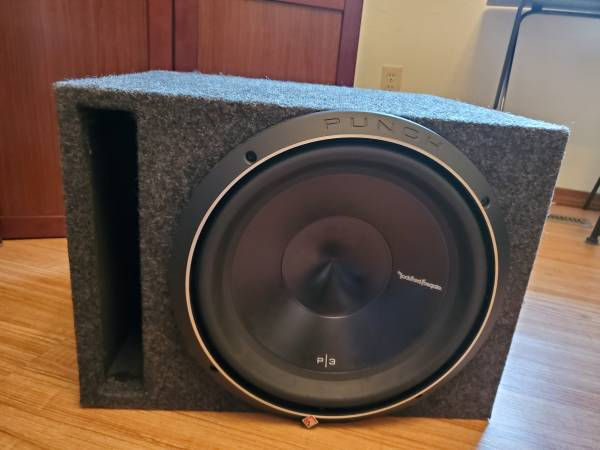 Photo Rockford Fosgate Subwoofer and Ported Box  - $225 (SW Springfield)
