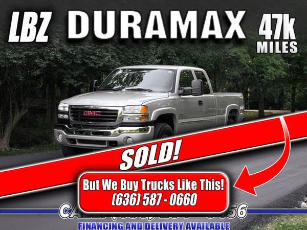 Photo SOLD 2006 GMC Sierra 2500 LBZ Duramax Diesel 4x4 (47k Miles) 1-Owner - $37,800 (Eureka, Missouri)
