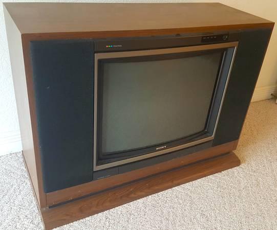 Photo SONY Trinitron 27quot Color TV Console, Beautiful Floor Console, Fantasti - $225 (Branson, MO area)