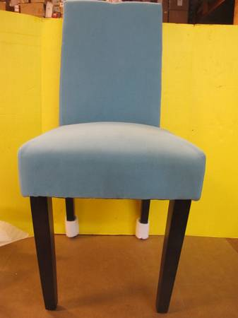 Photo TWO HOME DECORATOR PARSONS MOLESKIN ACCENT SIDE CHAIR AQUA BLUE NEW - $120 (Mountain View MO)