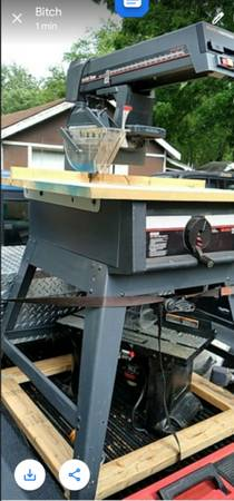 Photo 10quot Sears Craftsman Radial Arm Saw - $100 (Thayer)