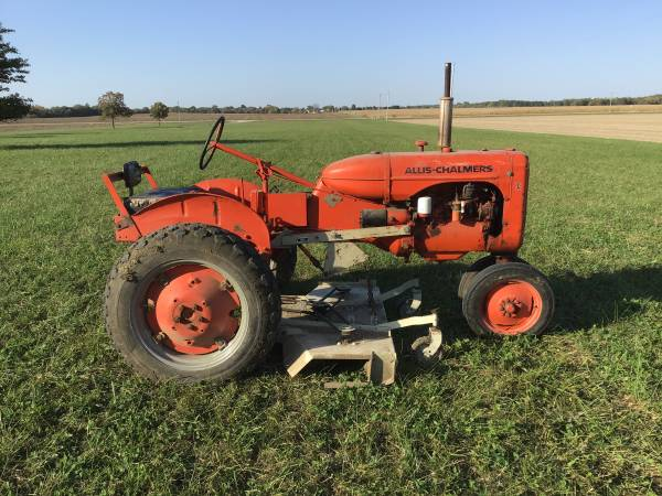 Photo Allis Chalmers CA with Woods Belly Mower - $2,500 (Rochester, Illinois)