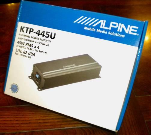 Photo Alpine Compact Car Audio Amplifier KTP-445U - $75 (SAINT LOUIS)