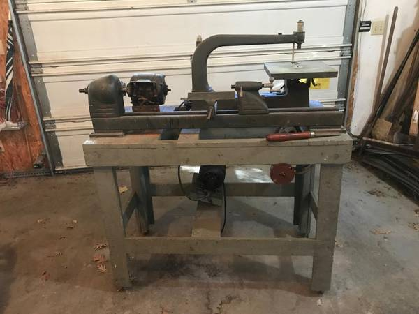 Photo Mounted Wood Lathe and Jig Saw - $150 (Rochester, IL)