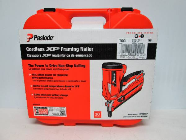 Photo Paslode Cordless XP Framing Nailer - CF325XP - $325 (SPRINGFIELD)