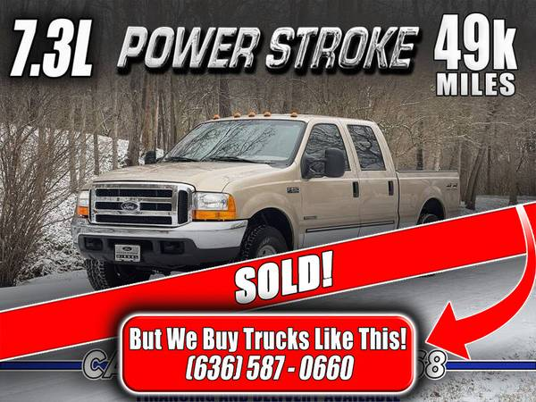 Photo SOLD 1999 Ford F-250 7.3 Powerstroke Diesel XLT 4x4 (49k Miles) - $34,800 (Eureka, MO)
