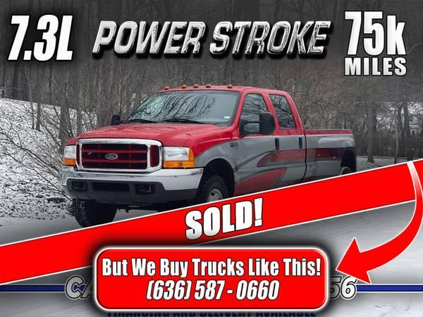 Photo SOLD 1999 Ford F-350 7.3 Powerstroke Diesel 4x4 Must See (75k Miles) - $29,800 (Eureka, MO)