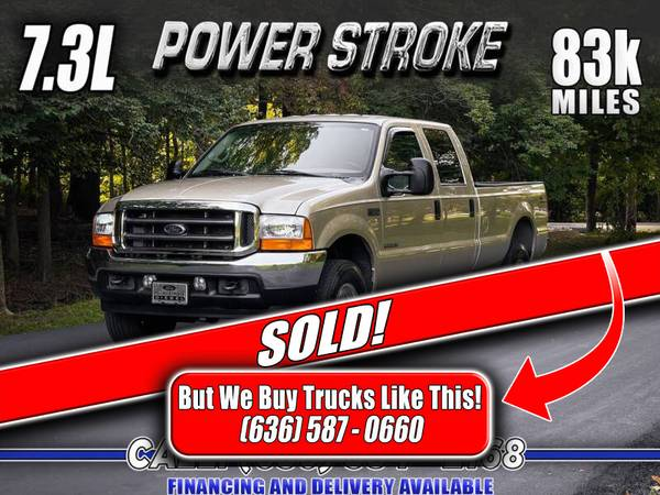 Photo SOLD 2001 Ford F-350 7.3 Powerstroke Diesel 4x4 (83k Miles) - $33,800 (Eureka, Missouri)