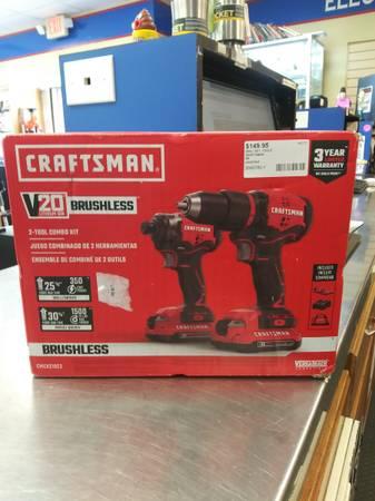 Photo Craftsman 20V Brushless 2-Tool Combo Kit - $150 (Goose Creek)