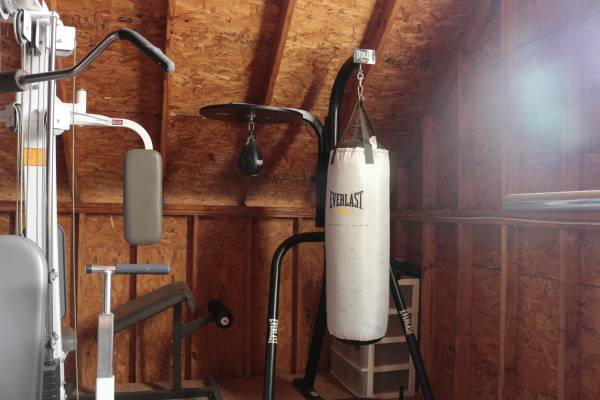 Photo Everlast Three-Station Heavy Duty Punching Bag Stand (Bags Included) - $400 (James Island)