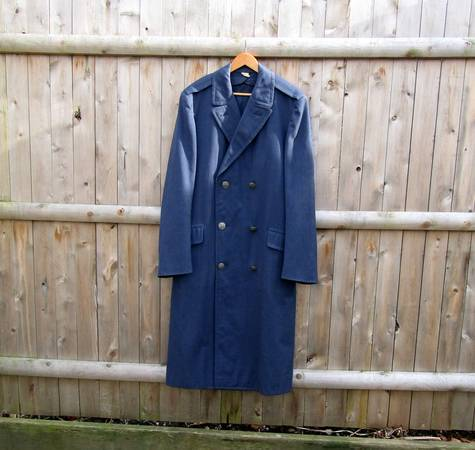 Photo Vintage Air Force Military Officer39s Blue Trench Coat - $75 (Moss Creek)