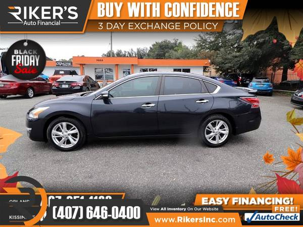 Photo $134mo - 2015 Nissan Altima 2.5 SL - 100 Approved - $134 (Rikers Auto Financial)