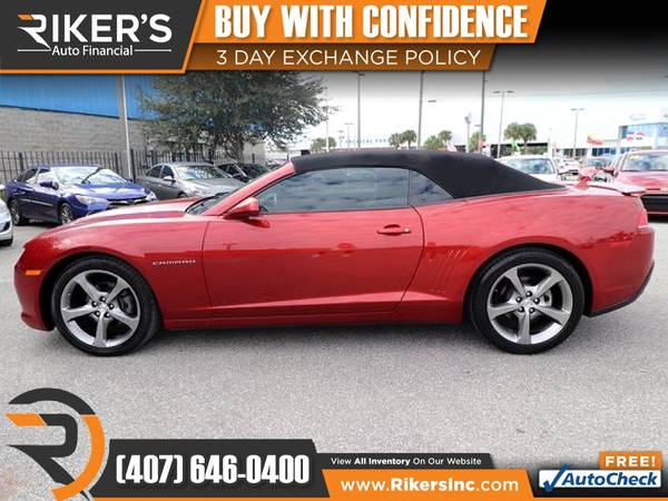 Photo $185mo - 2014 Chevrolet Camaro 2LT 2 LT 2-LT - 100 Approved - $185 (Rikers Auto Financial)