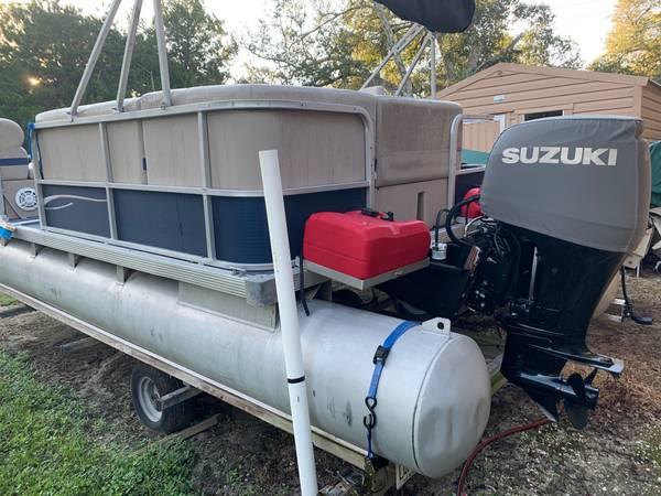 Photo 2039 Pontoon boat, motor, trailer - $7,800 (St Augustine)