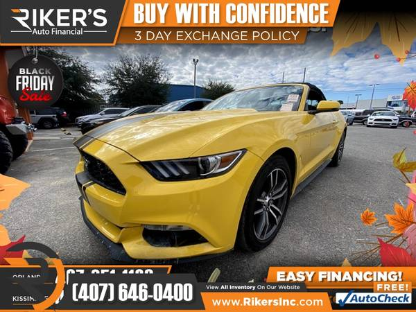 Photo $250mo - 2017 Ford Mustang EcoBoost Premium - 100 Approved - $250 (Rikers Auto Financial)