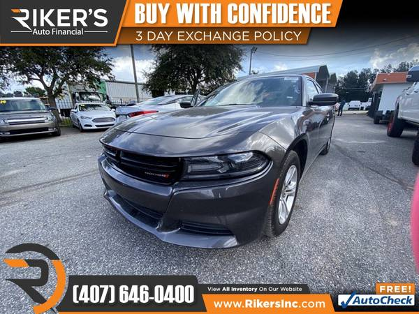 Photo $265mo - 2019 Dodge Charger SXT - 100 Approved - $265 (Rikers Auto Financial)