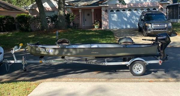 Photo GHEENOE with NEW motor and NEW trailer - $3,500 (St. Augustine)