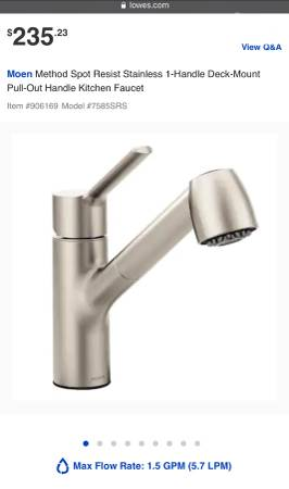 Photo Moen Method Kitchen Faucet (One-Handle Pullout) - Brushed Nickel - $50 (World Golf Village, St. Augustine)