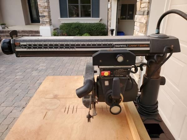 Photo Sears Craftsman Radial Arm Saw wstand - $199 (Palm Coast)