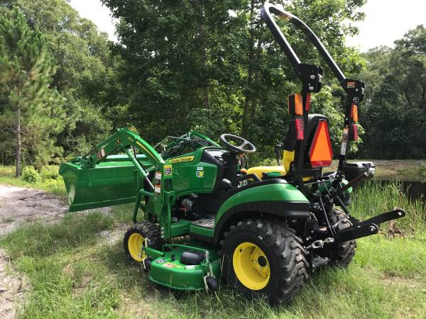 Photo TERRY (904) 460-4895 JOHN DEERE 1025R WITH 60quot DRIVE OVER MOWER - $21,299 (Call Terry (904) 460-4895)