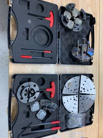 Photo Wood Lathe Chuck set of 2 - $250 (St Aug)