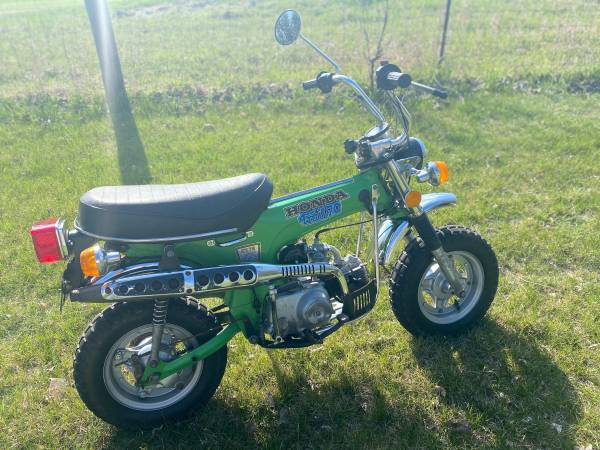 Photo 1975 Honda CT70 Mighty Green Trail 70 w Clean Title and LOW MILES - $2,500 (Coon Rapids)