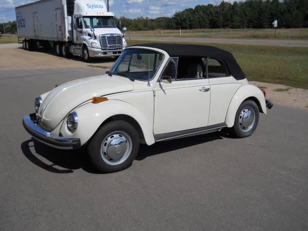 Photo 1976 Volkswagen super beetle Conv - $25,000 (Brainerd, MN)