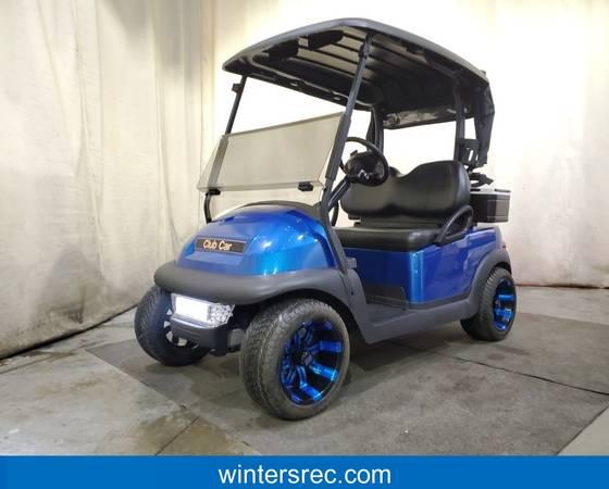 Photo 2018 Club Car Precedent Electric STREET READY Golf Cart Golfer Blue - $5495 (Sauk Centre)
