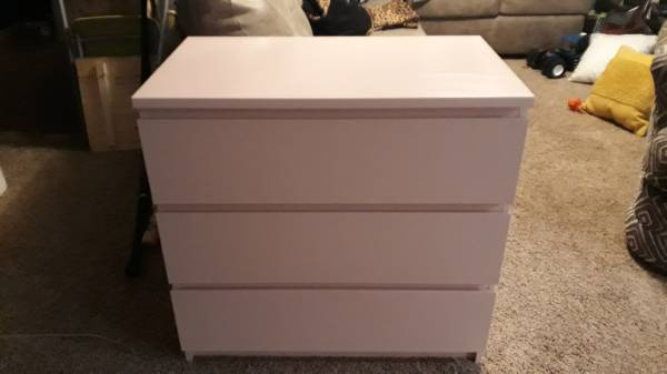 Photo 3 drawer pink IKEA dresser - $10 (BuckmanRoyalton)