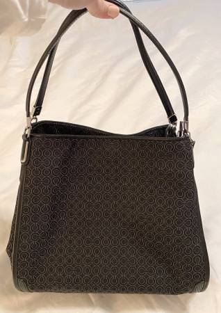Photo Coach Madison Op Art Pearlescent Hobo Bag - SilverBlack - $90 (St Cloud, MN)