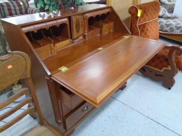 Photo Drop Front Desk  Dresser - $145 (The Used Furniture Store - Saint Cloud MN)