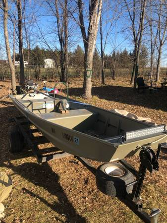 Photo Jon Boat with trailer and mud motor - $2,000