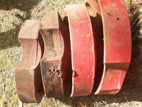 Photo Rear wheel weights to fit IH Farmall CUB, A, B, 154 - $100 (Wadena Area)