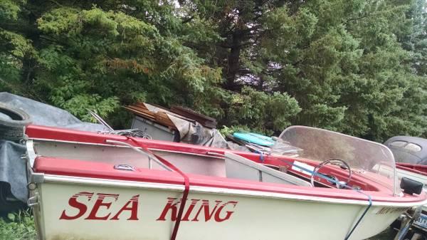 Photo Trailer  1961 Montgomery Wards Sea King Fiberglass Runabout Boat - $195 (Avon, MN)