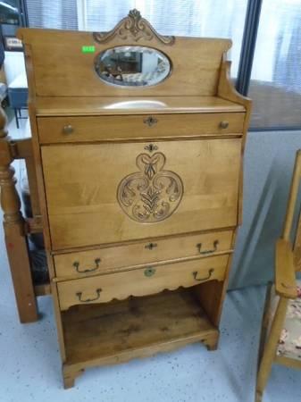 Photo Vintage Antique Drop Front Desk - $155 (The Used Furniture Store - Saint Cloud MN)