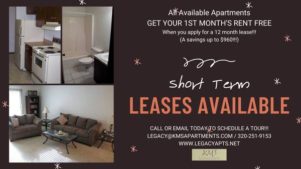 Photo WHO DOESN39T LIKE FREE RENT CALL TODAY FOR ONE MONTH FREE  (Waite Park)