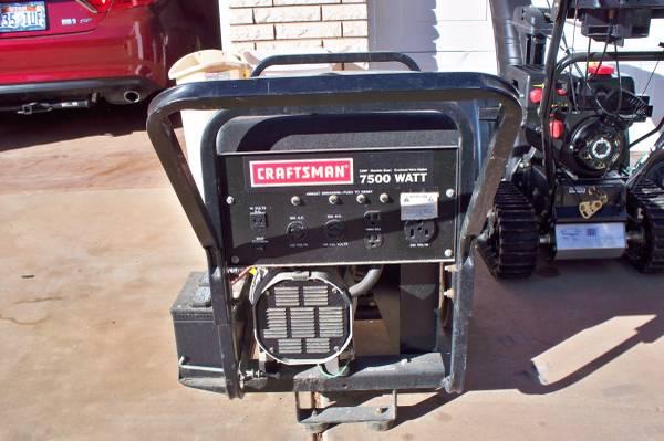 Craftsman Industrial 7500 Watt Generator 950 Washington Tools For Sale St George Ut Shoppok