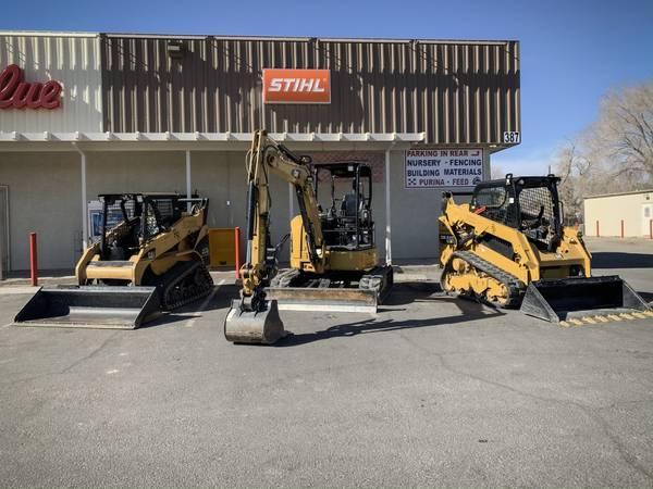 Photo Cat skid steer, mini ex  dump trailer Rental - $380 (Logandale)