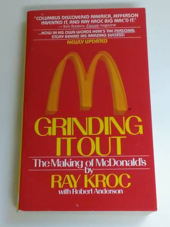 Photo GRINDING IT OUT Book - McDonalds - Ray Kroc The Founder - $5 (MARYLAND  FLAMINGO)